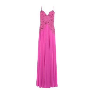 FOREVER UNIQUE ロングワンピース&ドレス フューシャ 12 ナイロン 95% / ポリウレタン 5% ロングワンピース&ドレス