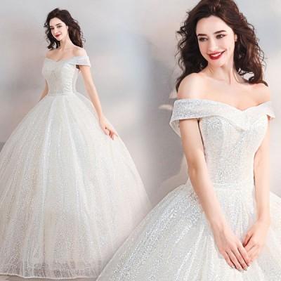 レディース ウエディングドレス ベアトップ ブライダル ロングドレス オシャレ 素敵な 写真撮影 ドレス プリンセスドレス 演奏会ドレス 上品な 花嫁ドレス