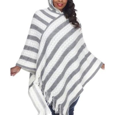 ホワイトマーク レディース ニット・セーター アウター Women's Plus Size Casandra Poncho