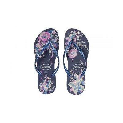 Havaianas ハワイアナス レディース 女性用 シューズ 靴 サンダル Slim Organic Flip Flops - Navy/Blue/Navy/Blue Metallic