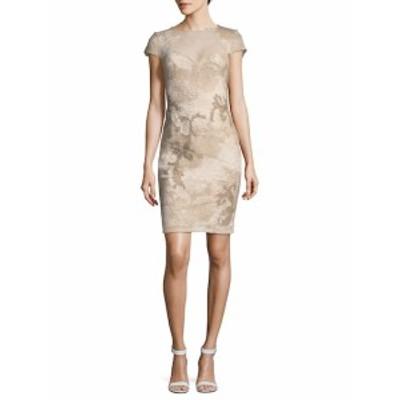 タダシショウジ レディース ワンピース Floral Lace Cap-Sleeve Sheath Dress