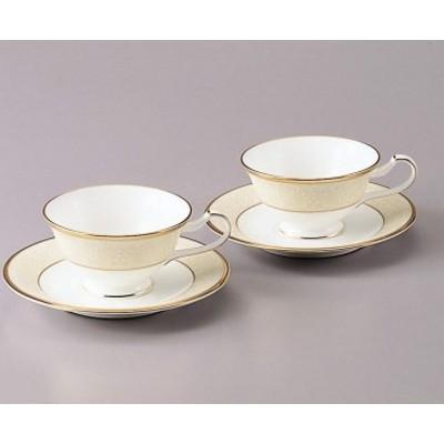 H441ホワイトパレス ティー・コーヒー碗皿ペアセット