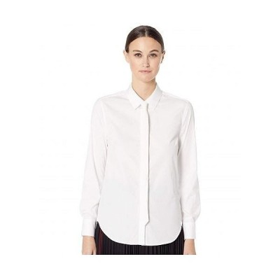 Neil Barrett ネイルバレット レディース 女性用 ファッション ブラウス Stretch Poplin Men's Fit Shirt - White