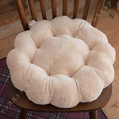 座布団 クッション 座椅子 かわいい 円型 体圧分散 厚め シンプル フロアクッション 北欧風 インテリア 雑貨 洗える 座面クッション 椅子用チェア/ソファー用