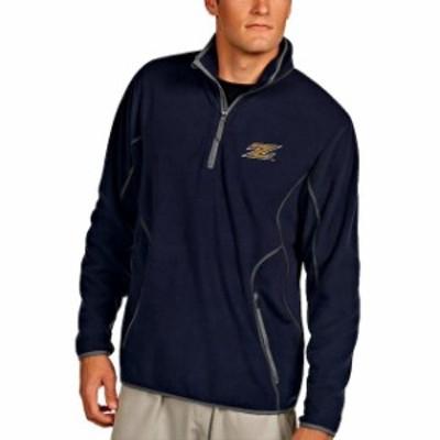 Antigua アンティグア スポーツ用品  Antigua Akron Zips Navy Ice Quarter-Zip Jacket