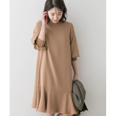 URBAN RESEARCH ROSSO/アーバンリサーチ ロッソ F by ROSSO ジョーゼット裾フレアワンピース BEIGE FREE