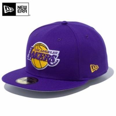 【T】【メーカー取次】 NEW ERA ニューエラ 59FIFTY NBA ロサンゼルス・レイカーズ パープル 12492058 キャップ【Sx】 / メンズ レディー