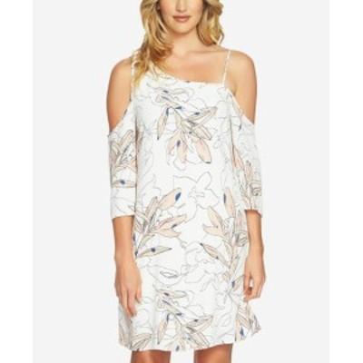 Shift  ファッション ドレス 1. State NEW White Womens Size XS One-Shoulder Crepe Shift Dress