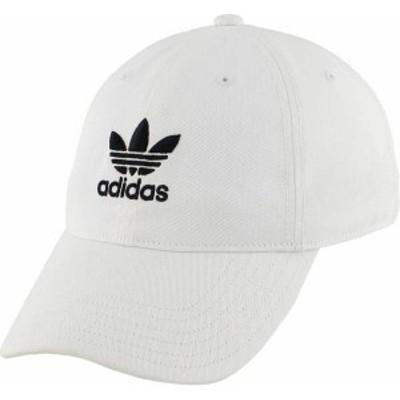 アディダス メンズ 帽子 アクセサリー adidas Men's Originals Relaxed Hat White/Black