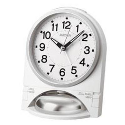 SEIKO セイコー 目覚まし時計 アナログ 大音量 切替式アラーム PYXIS (ピクシス) RAIDEN (ライデン) 白パール NR436W【お取り寄せ】