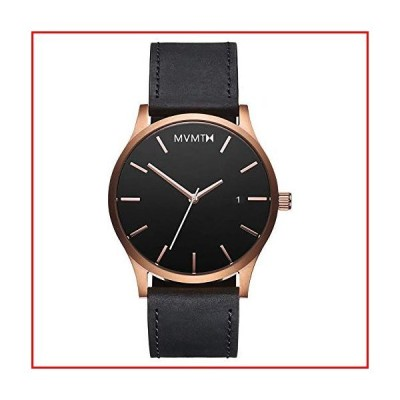 【新品未使用】MVMT Men's Minimalist Vintage Watch with Analog Date | Rose Gold Black【並行輸入品】