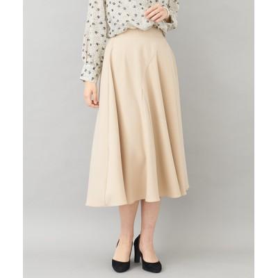 【上品でしなやかな】バイヤス切替フレアスカート