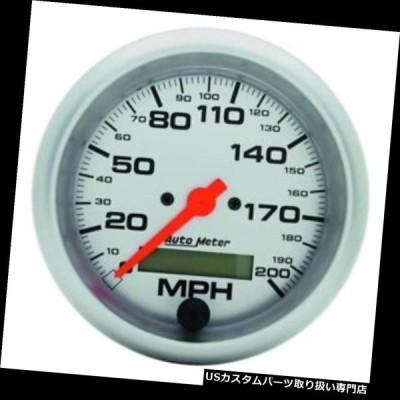 USタコメーター オートメーター4486 Ultra-Lite空芯スピードメーター、200 MPH、3?3/8インチ  Auto Meter 4486