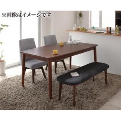 北欧デザイン らくらく回転チェアダイニング cura クーラ 4点セット(テーブル+チェア2脚+ベンチ1脚) W115