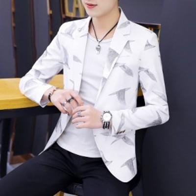 メンズ スーツ テーラードジャケット カジュアル 紳士 ビジネスジャケット ブレザー レジャー アウター ビジネススーツ 開襟 スリム コー
