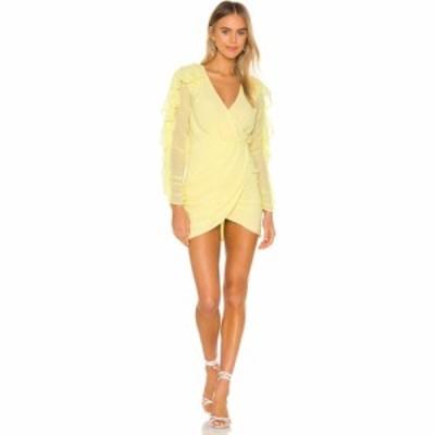エヌビーディー NBD レディース ワンピース ミニ丈 ワンピース・ドレス Indira Mini Dress Pastel Yellow