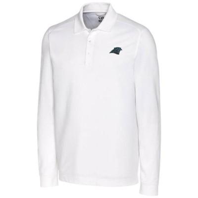カロライナ・パンサーズ Cutter & Buck Big & Tall Advantage Long Sleeve ポロシャツ - White