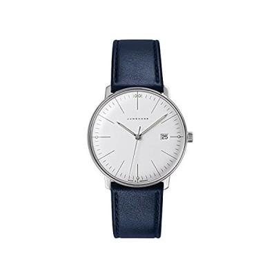 特別価格Junghans Max Bill クォーツ 041/4464.00 38mm ステンレススチールケース ブルー カーフスキン ガラス メンズ 腕時計好評販売中