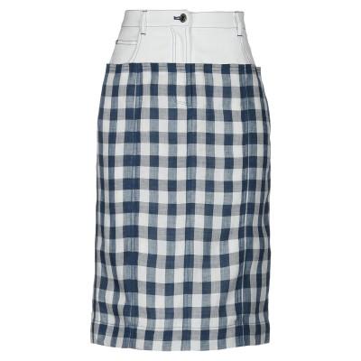 SJYP ひざ丈スカート ブルー XS 麻 100% / ポリエステル / コットン ひざ丈スカート