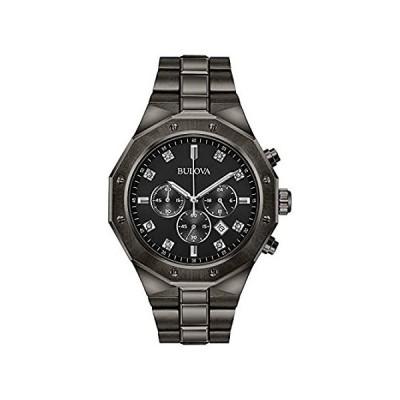 新品未使用Bulova メンズ アナログ クォーツ 腕時計 ステンレススチールストラップ グレー 24 (モデル: 98D142)欧米輸入品