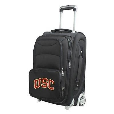 Denco Sports 海外直輸入ブランドアクセサリー Denco Southern California ブラック ナイロン 21-inch Carry-on 8-wheel Spinner Suitcase