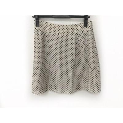 マークバイマークジェイコブス MARC BY MARC JACOBS スカート サイズ4 S レディース 美品 アイボリー×黒【中古】20190809