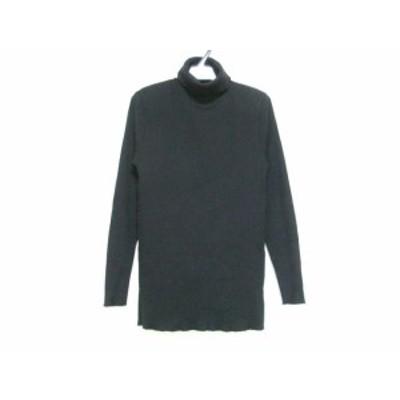クロエ Chloe 長袖セーター サイズ40 M レディース - 黒 タートルネック/肩パッド【中古】20210205