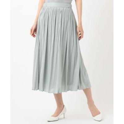 S size ONWARD(小さいサイズ)/エスサイズオンワード 【WEB限定】チュールプリーツ スカート ライトグリーン系 0