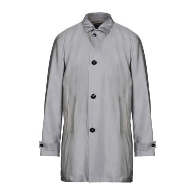 KITON ライトコート グレー 50 シルク 100% / 羊革(ラムスキン) ライトコート