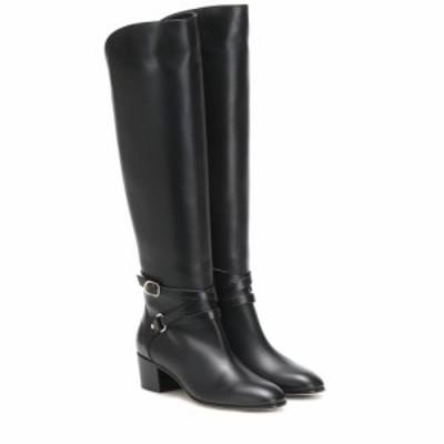 ジミー チュウ Jimmy Choo レディース ブーツ シューズ・靴 Huxlie 45 leather knee-high boots black