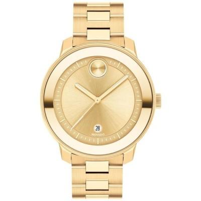 モバド レディース 腕時計 アクセサリー Women's Swiss Gold Ion-Plated Steel Bracelet Watch 38mm