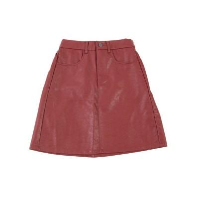 スカート フェイクレザーミニスカート