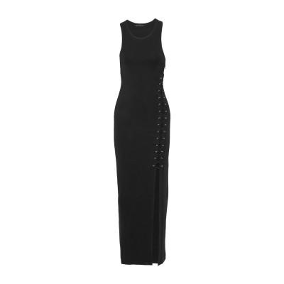 WALTER BAKER ロングワンピース&ドレス ブラック XS レーヨン 60% / ポリエステル 35% / ポリウレタン 5% ロングワンピ