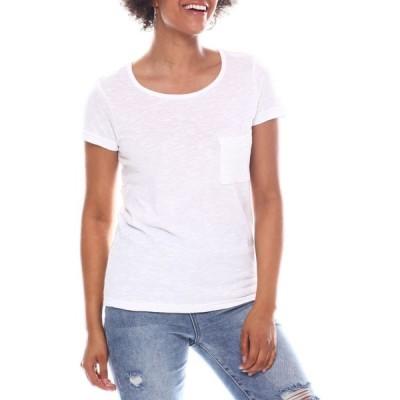 ファッションラボ Fashion Lab レディース Tシャツ トップス Short Sleeve Tee White