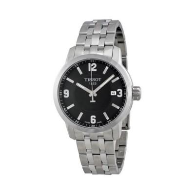 腕時計 ティソット Tissot PRC 200 クォーツ ブラック ダイヤル ステンレス スチール スポーツ メンズ 腕時計 T0554101105700