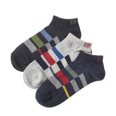 GUNZE / 【EDWIN】メンズ・スニーカー丈ソックス 3足組み MEN レッグウェア > ソックス/靴下