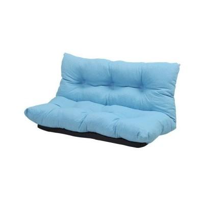 ソファー ソファ 2人掛け 二人掛け コンパクト おしゃれ 安い 座椅子 低い ローソファー こたつ リクライニング 布 ブルー 青