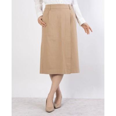 リネーム Rename コットン素材のタイトミドル丈スカート(チノベージュ)