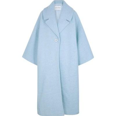 マリアム アル シバイ Mariam Al Sibai レディース コート アウター Light Blue Boucle Coat Blue