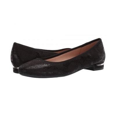 LifeStride ライフストライド レディース 女性用 シューズ 靴 フラット Vivienne - Black Python