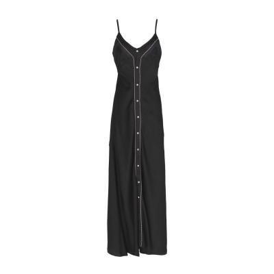 DIESEL BLACK GOLD ロングワンピース&ドレス ブラック 40 57% アセテート 43% レーヨン ロングワンピース&ドレス