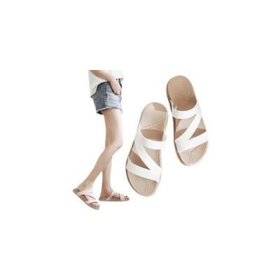 サンダル ぺた郡??夏 海 ビーチサンダル スリッパ シューズ レディース 滑り止め オシャレ 歩きやすい 痛くない 履きやすい 美脚  夏 新作