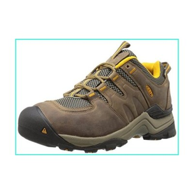 【新品】KEEN Men's Gypsum Ii Waterproof Backpacking Boot, Shiitake/Golden Yellow, 9.5 M US(並行輸入品)