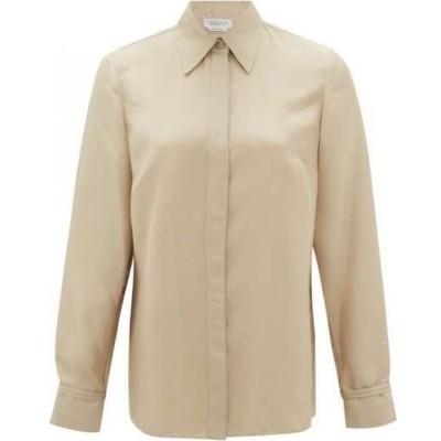 ガブリエラ ハースト Gabriela Hearst レディース ブラウス・シャツ トップス Cruz silk-blend shirt Beige