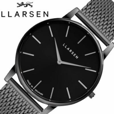 エルラーセン 腕時計 LLARSEN 時計 オリバー OLIVER メンズ ブラック LL147OBOM [ 人気 ブランド おすすめ 北欧 くすみ 黒 クロノグラフ