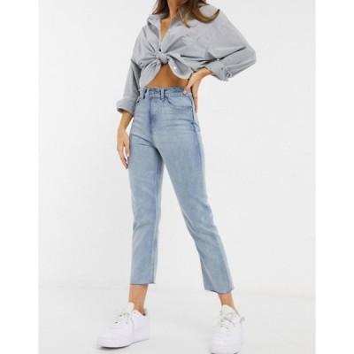 ブレーブソウル レディース デニムパンツ ボトムス Brave Soul francis high waisted mom jeans in light wash blue
