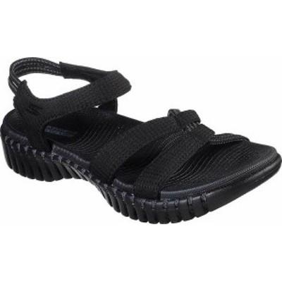 スケッチャーズ レディース サンダル シューズ Women's Skechers GOwalk Smart Flirty Ankle Strap Sandal Black/Gray