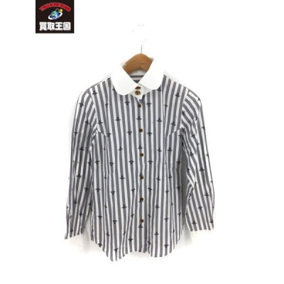 Vivienne Westwood red label 長袖ピーターパンシャツ(2)白グレー[▼]