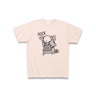 ろっきゅー(黒) Tシャツ(ライトピンク)