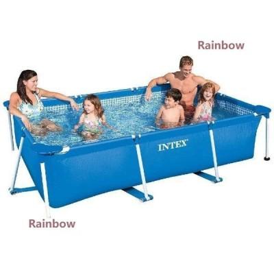 プール レクタングラフレームプール 暑さ対策 ビニールプール 膨脹可能 家庭 バルコニー ジャンボプール 耐久性 家庭用プール 子供用プール